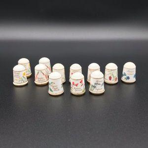 Beautiful franklin porcelain thimbles
